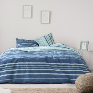 Σεντόνια Υπέρδιπλα Σετ Με Λάστιχο 160x200+30cm Kocoon Kilim Blue Βαμβακερά