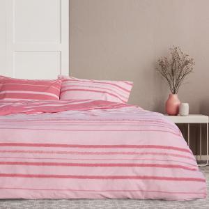 Σεντόνια Υπέρδιπλα Σετ Με Λάστιχο 160x200+30cm Kocoon Kilim Pink Βαμβακερά