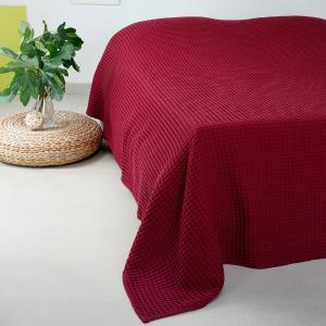 Κουβέρτα Πικέ Μονή 170x240cm Melinen Patmos Bordeaux
