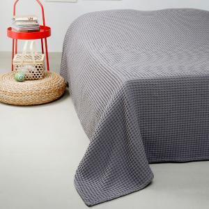 Κουβέρτα Πικέ Μονή 170x240cm Melinen Patmos Dark Grey