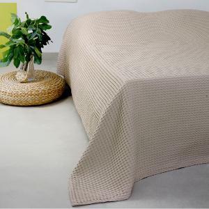 Κουβέρτα Πικέ Υπέρδιπλη 230x240cm Melinen Patmos Beige