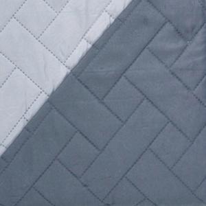 Κουβερλί Υπέρδιπλο 220x240cm Borea Plexis Γκρι-Γκρι Ανοιχτό Πολυεστέρας