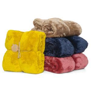Κουβέρτα Μονή Γούνα Borea Bear Fur 160x220cm
