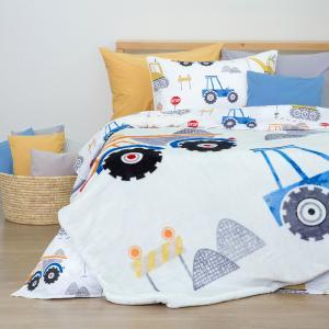 Κουβέρτα Μονή Παιδική Βελουτέ 150x220cm Borea Π-12 Φορτηγά