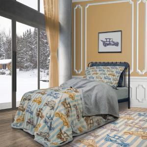 Κουβέρτα Μονή Παιδική Fleece Sherpa 160x220cm Polo Club Junior 2925