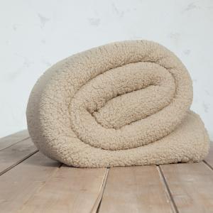 Κουβέρτα Υπέρδιπλη 220x240cm Nima Manta Beige