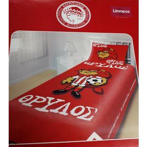 Κουβέρτα Πικέ Παιδική Σετ 160x220cm Limneos Olympiakos