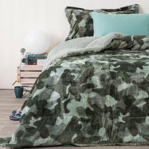 Κουβερτοπάπλωμα Μονό Παιδικό Fleece-Sherpa 160x220cm Borea Army Πολυέστερας