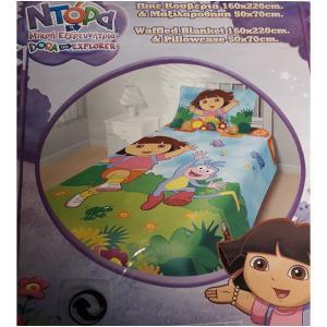 Κουβέρτα Πικέ Παιδική Σετ 160x220cm Limneos Ντόρα