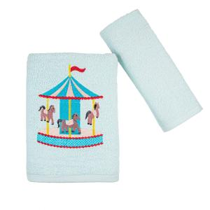 Πετσέτες Παιδικές Σετ 2 Τεμάχια Astron Luna Park Βαμβακερές