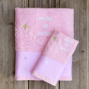 Πετσέτες Παιδικές Σετ 2 Τεμάχια Kocoon Magic Uni Βαμβακερές