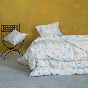 Σεντόνια Υπέρδιπλα Σετ Με Λάστιχο 160x200+32cm Nima Manderley Lilac Βαμβακερά