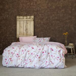 Σεντόνια Υπέρδιπλα Σετ Με Λάστιχο 160x200+32cm Nima Manderley Pink Βαμβακερά