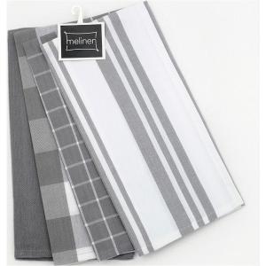 Ποτηρόπανα Σετ 4 τμχ Melinen Mix Grey