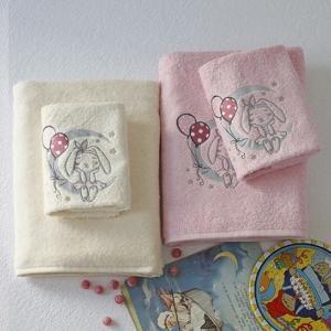 Πετσέτες Βρεφικές Σετ 2τμχ Melinen Baby Moon Pink