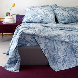 Σεντόνια Υπέρδιπλα Σετ 235x270cm Melinen Ultra Brooks Blue