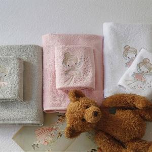 Πετσέτες Παιδικές Σετ 2 Τεμάχια Melinen Fairy Grey Βαμβακερές