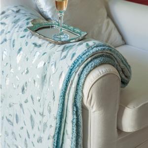 Κουβέρτα Καναπέ 130x170 Melinen Sparkle Silver
