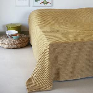 Κουβέρτα Πικέ Μονή 170x240cm Melinen Patmos 20 Mustard
