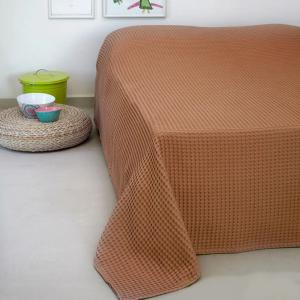 Κουβέρτα Πικέ Μονή 170x240cm Melinen Patmos 20 Terracotta