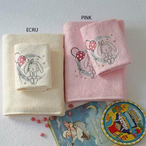 Πετσέτες Παιδικές Σετ 2 Τεμάχια Melinen Moon Pink Βαμβακερές