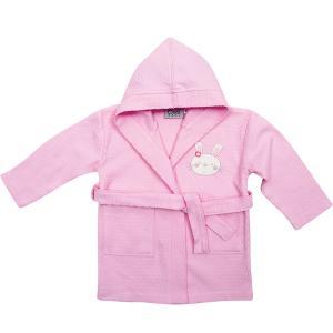 Μπουρνούζι Πικέ με Κουκούλα Das Home Baby Smile Embroidery 6387 Ροζ