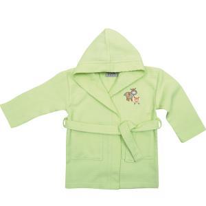 Μπουρνούζι Πικέ με Κουκούλα Das Home Baby Smile Embroidery 6389 Λαχανί
