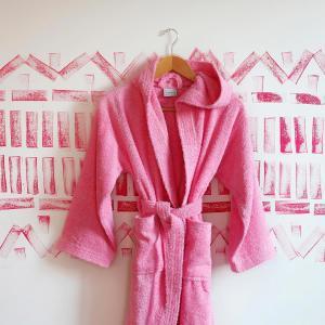Μπουρνούζι Παιδικό Με Κουκούλα Melinen Liberty Ροζ