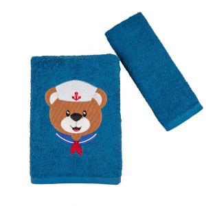 Πετσέτες Παιδικές Σετ 2 Τεμάχια Astron Navy Bear Βαμβακερές