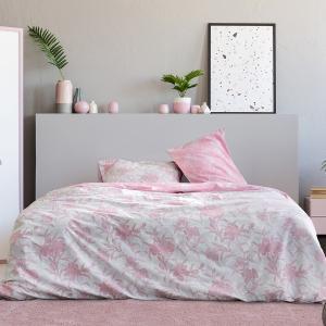 Σεντόνια Υπέρδιπλα Σετ Με Λάστιχο 160x200+30cm Kocoon Novela Pink Βαμβακερά
