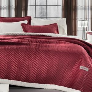 Κουβέρτα Υπέρδιπλη Guy Laroche 220x240cm Velluto Rosso