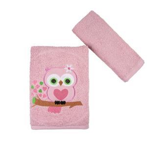 Πετσέτες Παιδικές Σετ 2 Τεμάχια Astron Owl Βαμβακερές