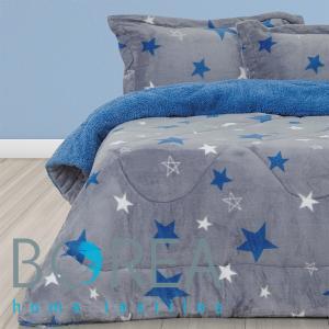 Κουβερτοπάπλωμα Μονό 160x220cm Borea Little Star Μπλε
