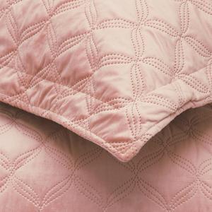 Πάπλωμα Υπέρδιπλο Βελούδο Σετ Με Μαξιλαροθήκες 220x240cm Borea Valentina Ροζέ