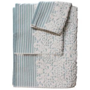 Πετσέτα Προσώπου 50x100cm Bomdia Prestige PT179  Λευκό-Γαλάζιο