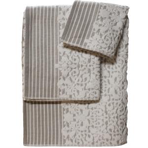 Πετσέτα Προσώπου 50x100cm Bomdia Prestige PT179  Λευκό-Γκρι