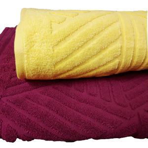 Πετσέτα Σώματος 70x140cm Bomdia Κίτρινο
