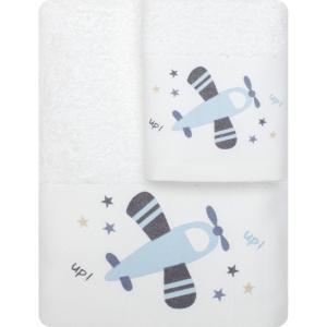 Πετσέτες Παιδικές Σετ 2τμχ Borea Up In The Air