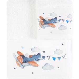 Πετσέτες Παιδικές Σετ 2 τμχ Borea Αεροπλανάκι