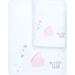 Πετσέτες Παιδικές Σετ 2τμχ Borea My Little Swan