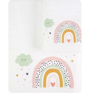 Πετσέτες Παιδικές Σετ 2 τμχ Borea Ουράνιο Τόξο