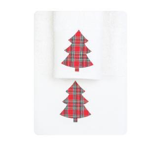 Πετσέτες σετ 2τμχ Χριστουγεννιάτικες Borea CR-8 Εκρού
