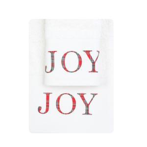 Πετσέτες σετ 2τμχ Χριστουγεννιάτικες Borea CR-9 Εκρού