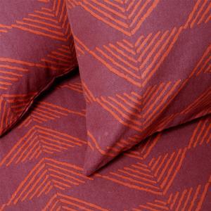 Φανελένιες Μαξιλαροθήκες Ζεύγος 50x70cm Melinen Prado Burgundy
