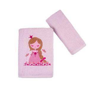 Πετσέτες Παιδικές Σετ 2 Τεμάχια Astron Princess Βαμβακερές