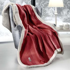 Ριχτάρι 130x170cm σετ με μαξιλάρι Guy Laroche Velluto Rosso