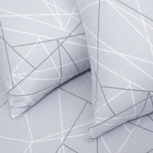 Φανελένιο Σεντόνι Υπέρδιπλο Με Λάστιχο 160x200+30cm Melinen Roots Silver