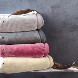 Κουβέρτα Υπέρδιπλη 220x240cm Βελουτέ Rythmos 02 Φούξια