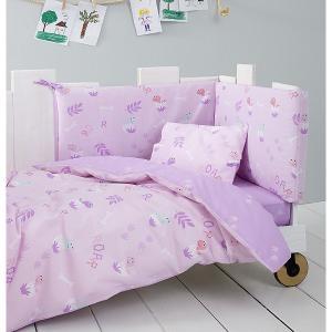 Σεντόνια Κούνιας Σετ Nima Baby Roar 120x170cm Lilac