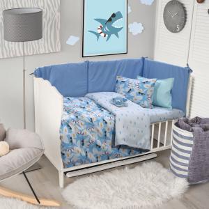Σεντόνια Κούνιας Σετ 120x170cm Das Home Baby Fun 6521